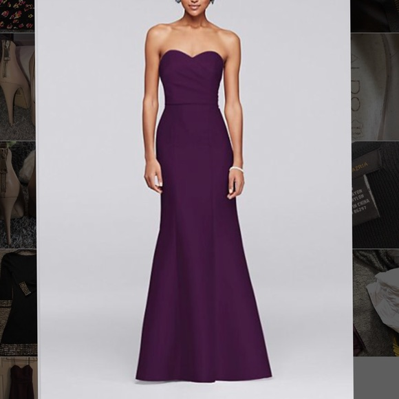 David\'s Bridal Dresses | Davids Bridal Plum Formal Dress | Poshmark
